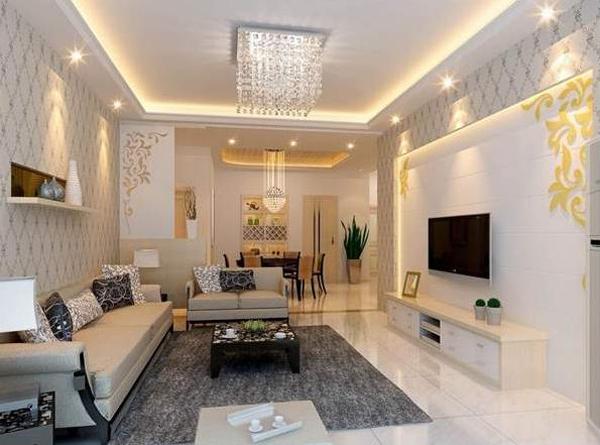 Дизайн обоев для зала