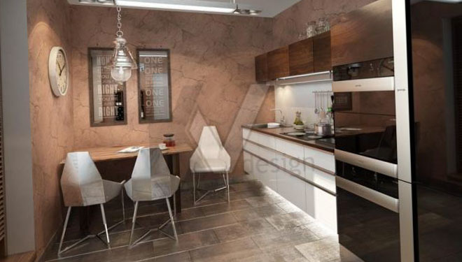 Фото обоев для кухни в стиле лофт