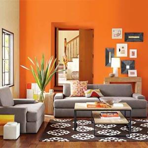 оранжевые стены фото 01
