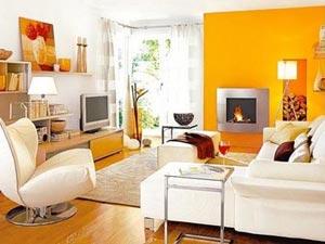 оранжевые стены фото 03