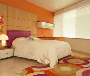 оранжевые стены фото 06
