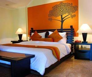 оранжевые стены фото 07