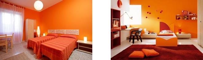 оранжевые стены фото 08