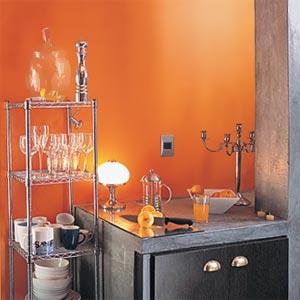 оранжевые стены фото 09