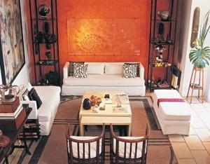 оранжевые стены фото 10