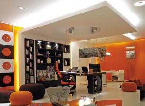 оранжевые стены фото 13