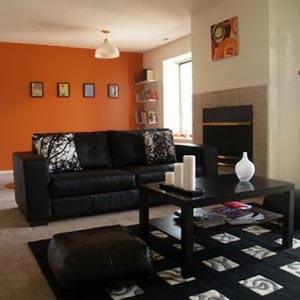 оранжевые стены фото 16
