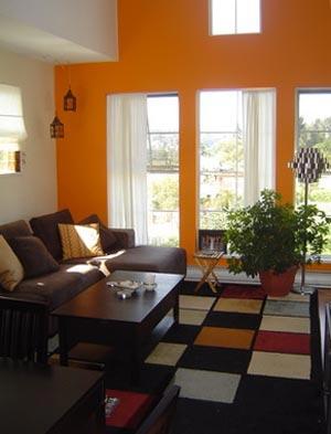 оранжевые стены фото 17