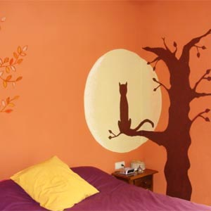 оранжевые стены фото 19