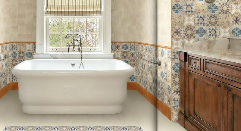 Пэчворк плитка в интерьере ванной