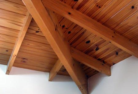 деревянный потолок 11