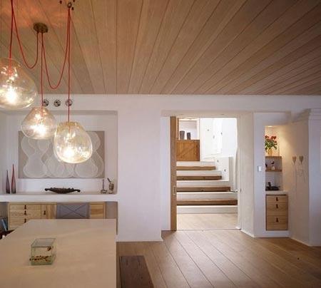 деревянный потолок 17