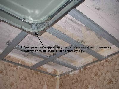 Двухуровневый потолок из гипсокартона с подсветкой по периметру с фотографиями