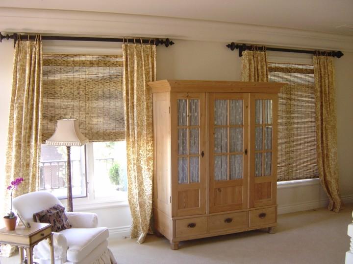 Бамбуковые шторы для спальни: дизайн и фото