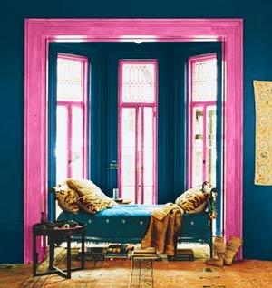 розовый цвет сочетается с синим и морской волной 4