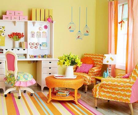 розовый и оранжевый 09