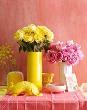 розовый и желтый 21