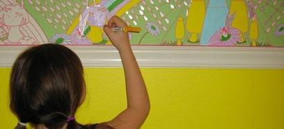 роспись стен в детской комнате 2