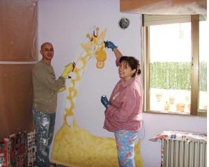 роспись стен в детской комнате 5