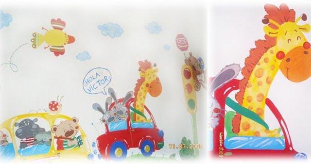 роспись стен в детской комнате 8