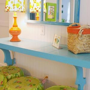 сочетание голубого и оранжевого 07