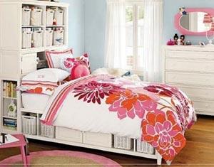 спальня для девушки стиль коттедж 33