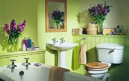 цветы в ванной комнате 10
