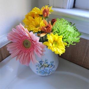 цветы в ванной комнате 28