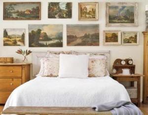украшение стен картинами 007