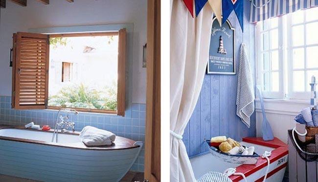 ванная комната в морском стиле 2