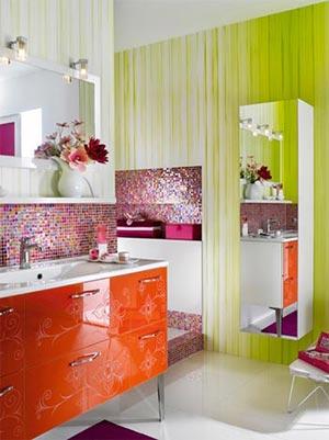 яркая ванная комната 42