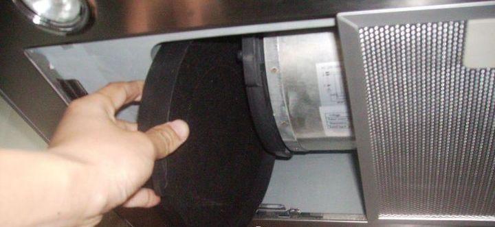 Замена угольного фильтра