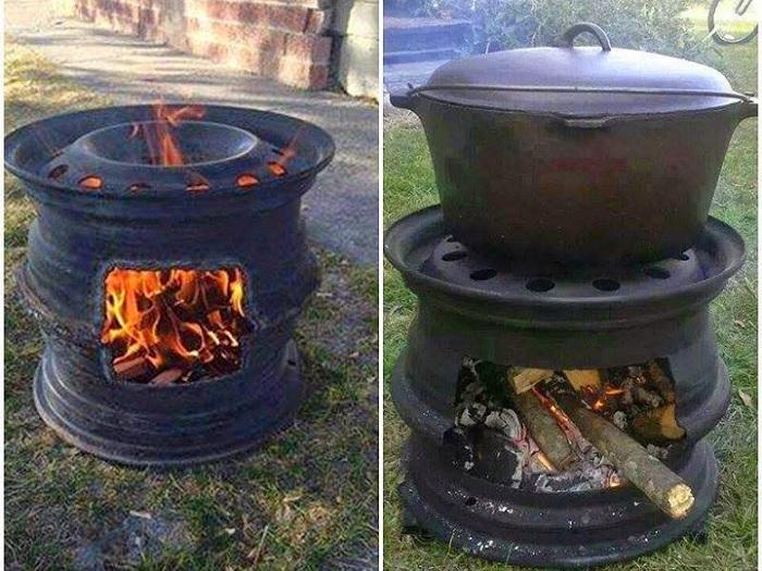 самодельная жаровня для барбекю