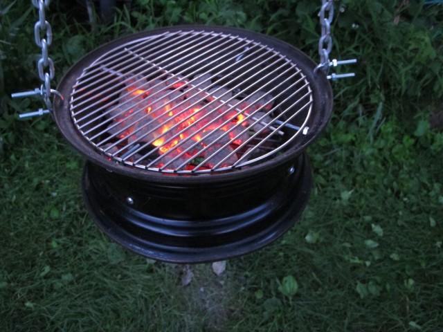 самодельная жаровня для барбекю1