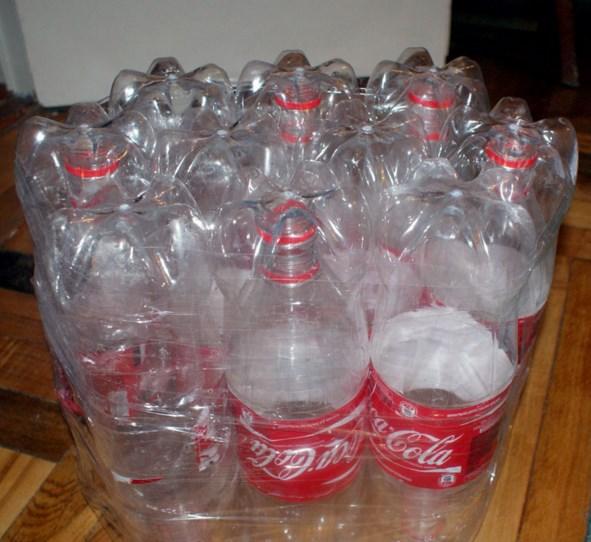 Бутылки для пуфика