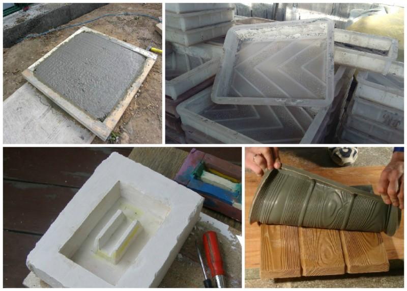 Формы для тротуарной плитки из разных материалов
