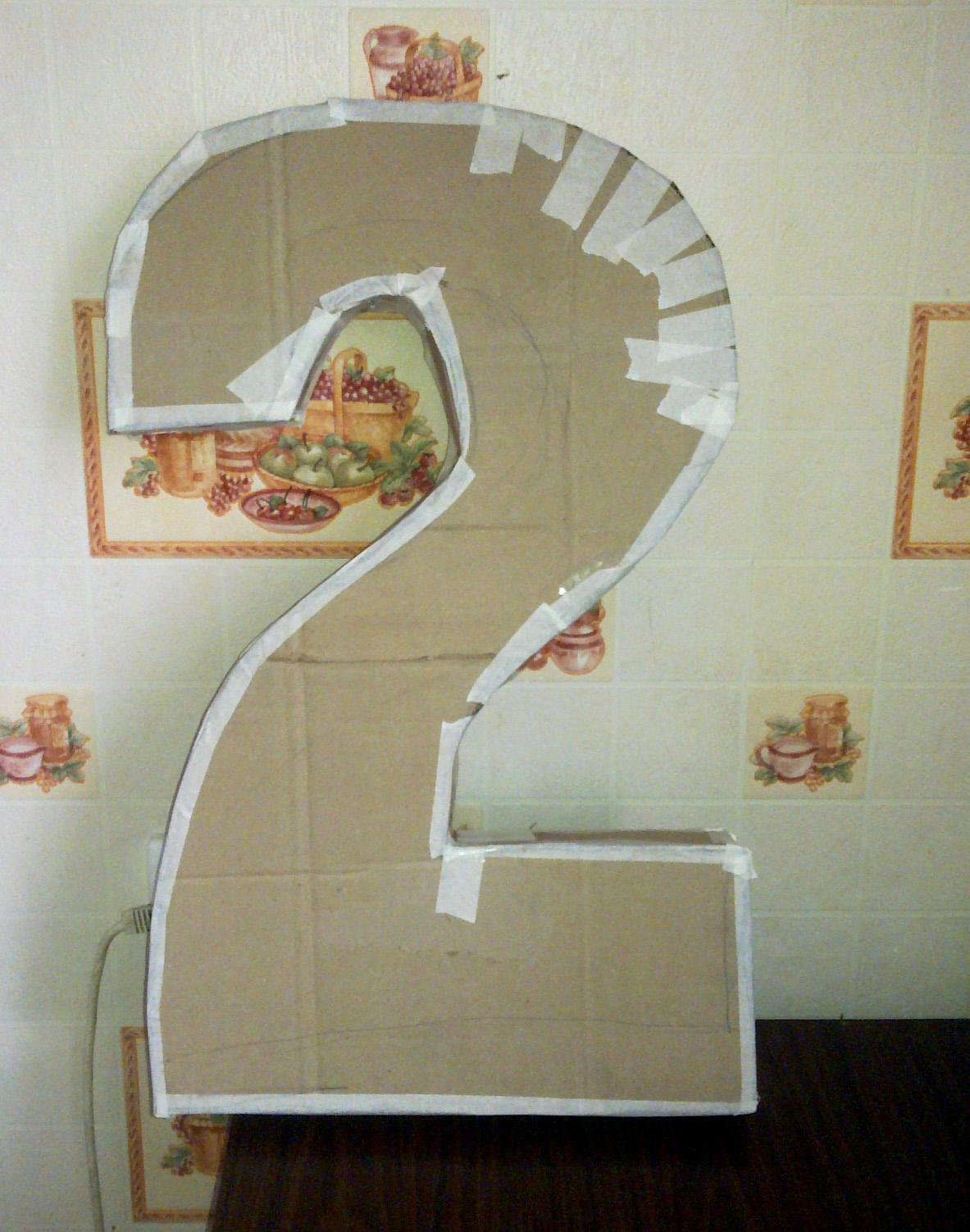 Как сделать цифру 2 из картона каркас