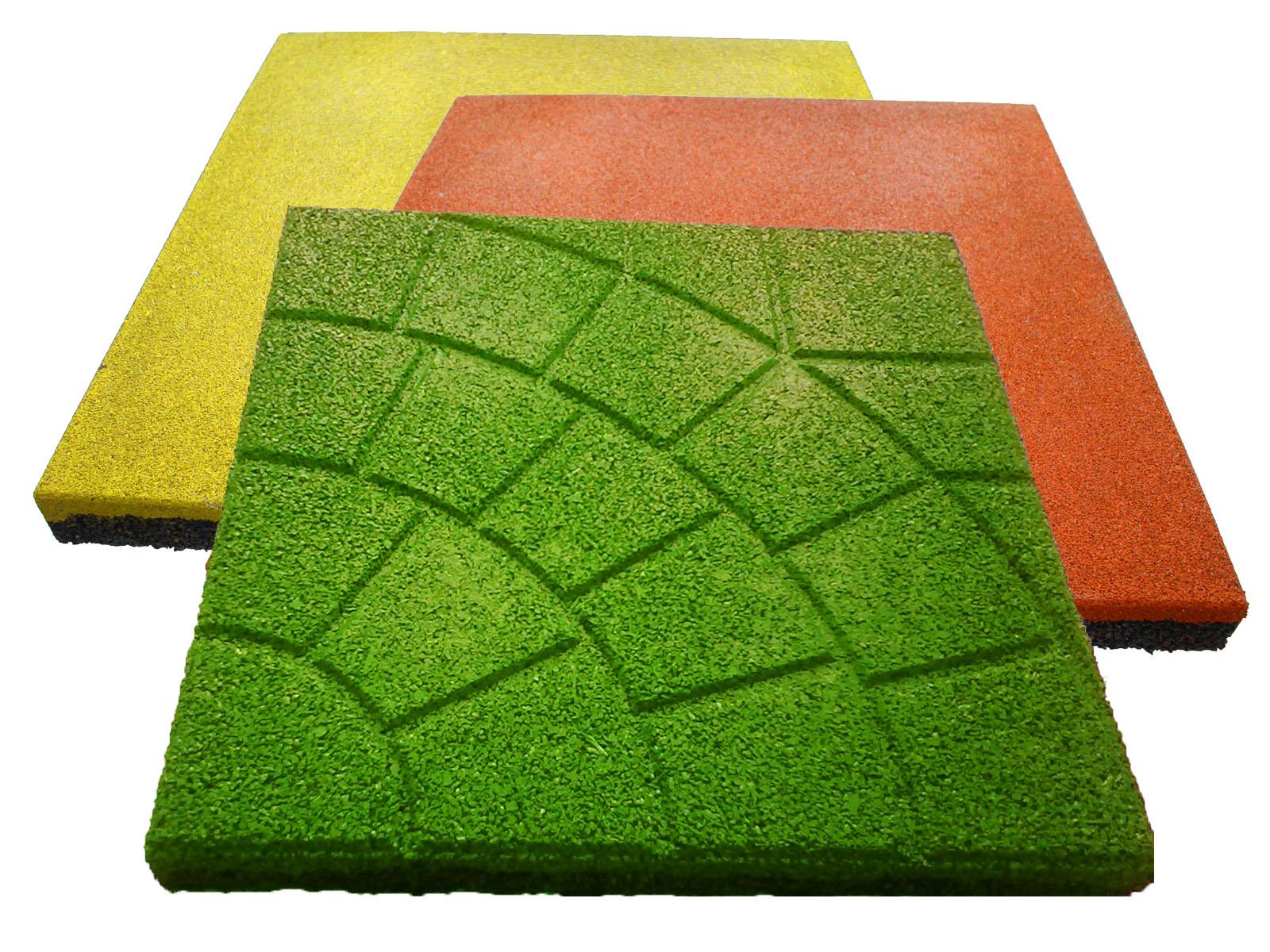 Цвета резиновой плитки