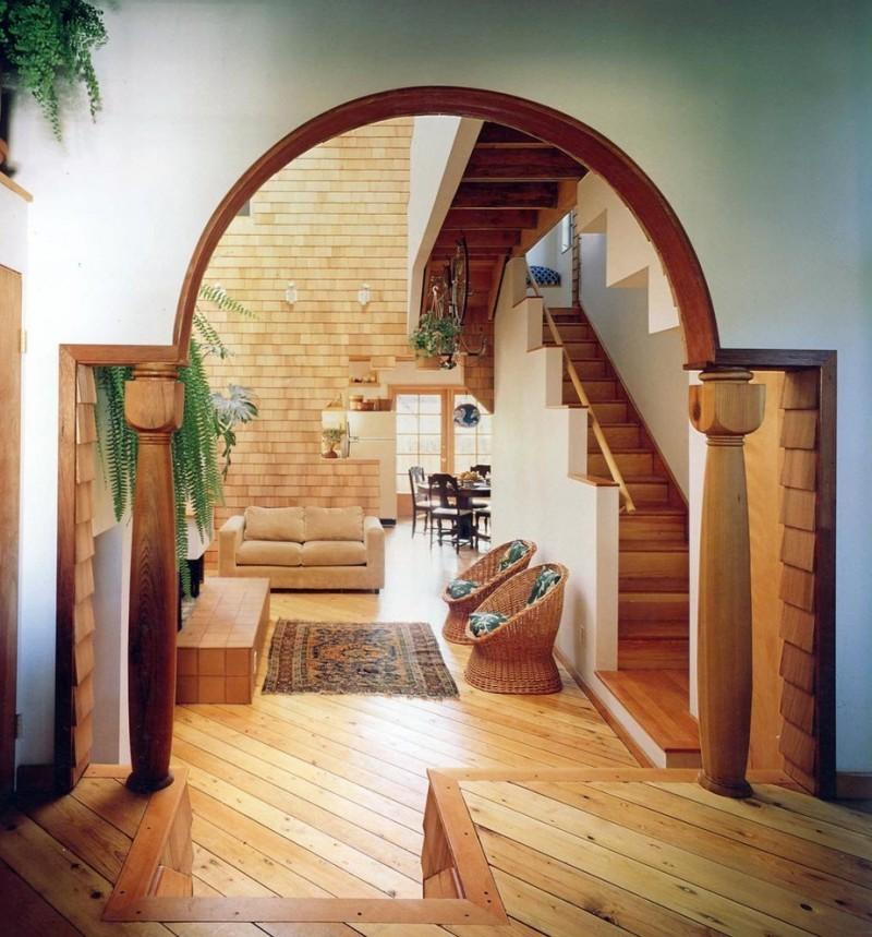 Полуциркульная арка в интерьере