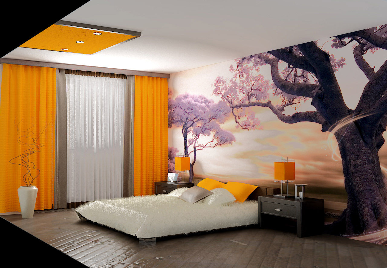 Дизайн спальни стены