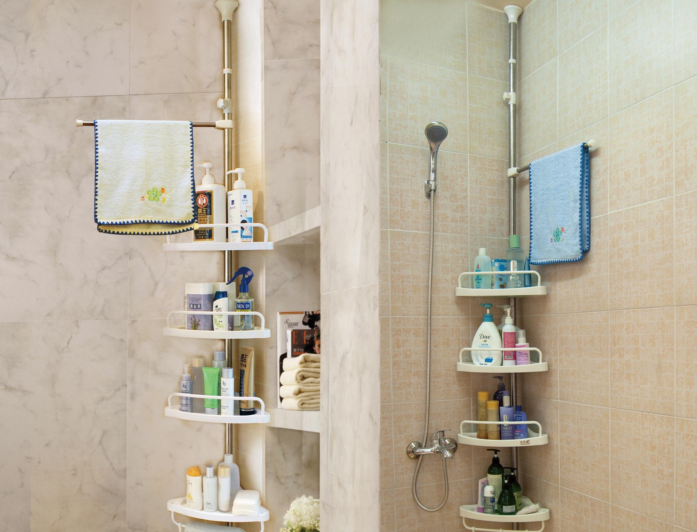 Телескопические полки для ванной комнаты