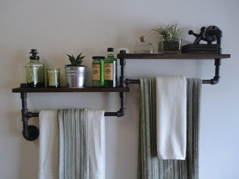 Полки для ванной комнаты своими руками