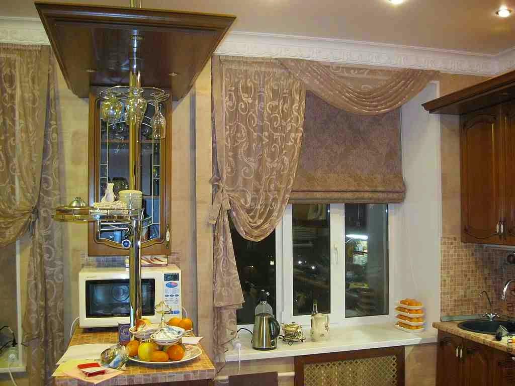 Современная тюль на кухню
