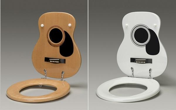 сиденье для унитаза в форме гитары1