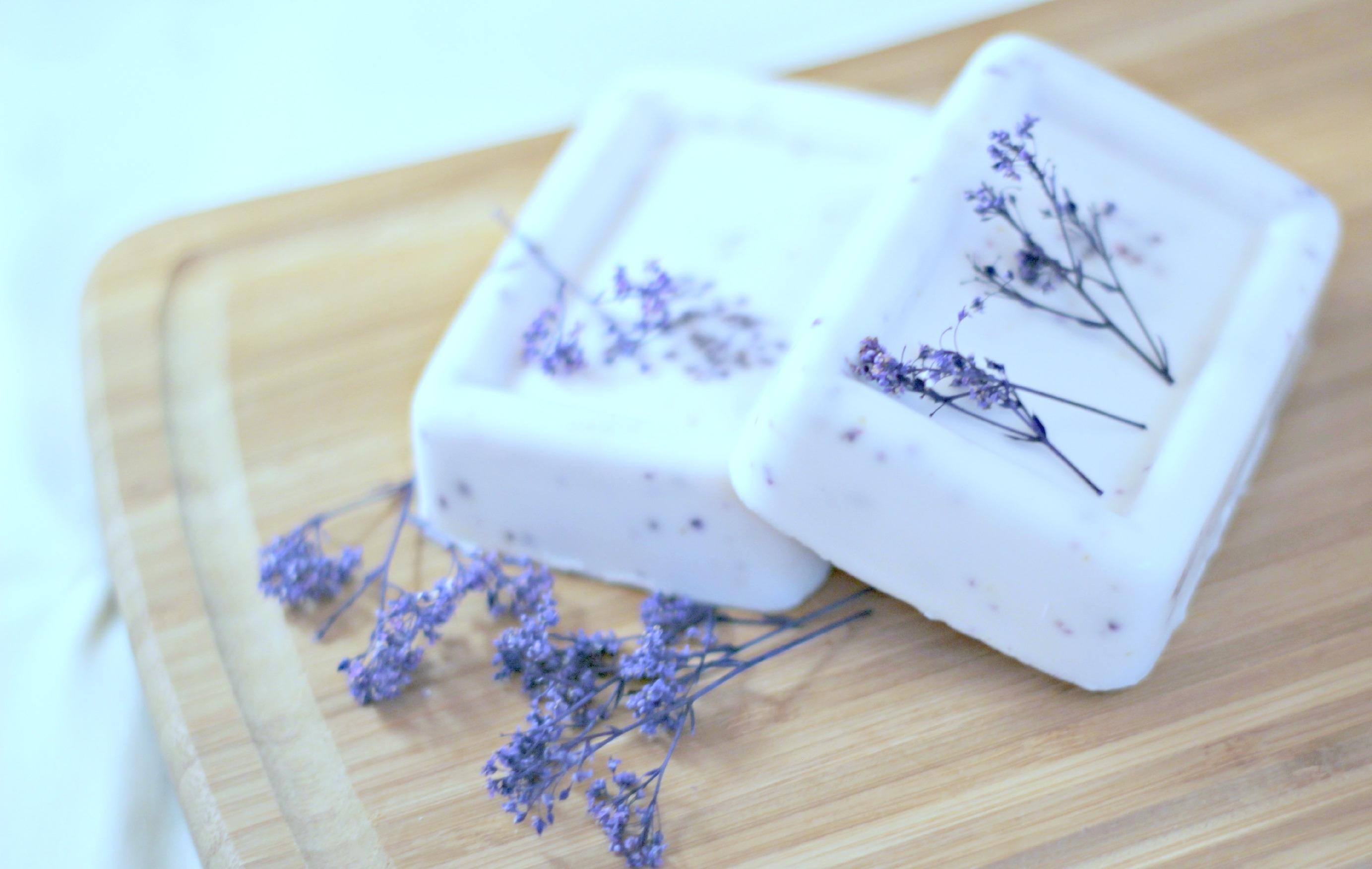 Мыло ручной работы с лавандой