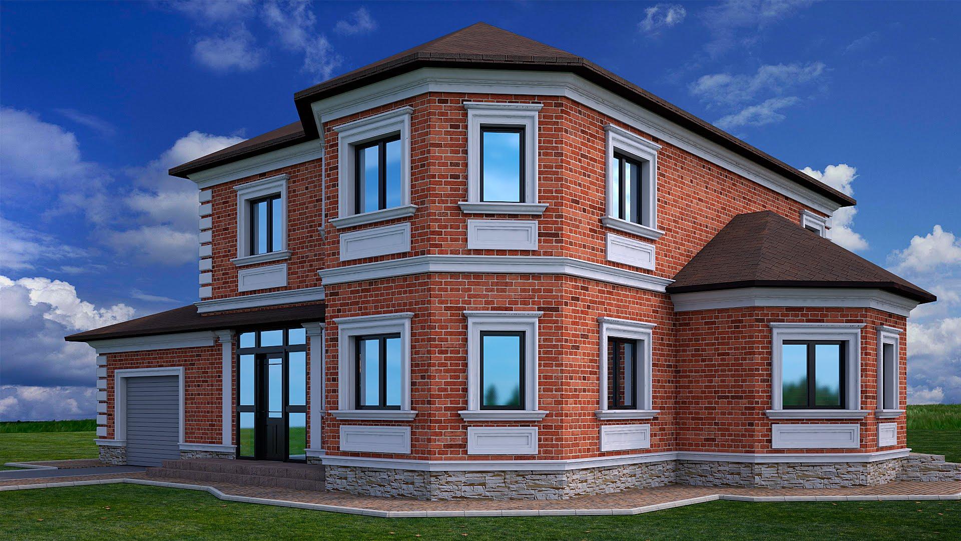 Фасадный декор особняка