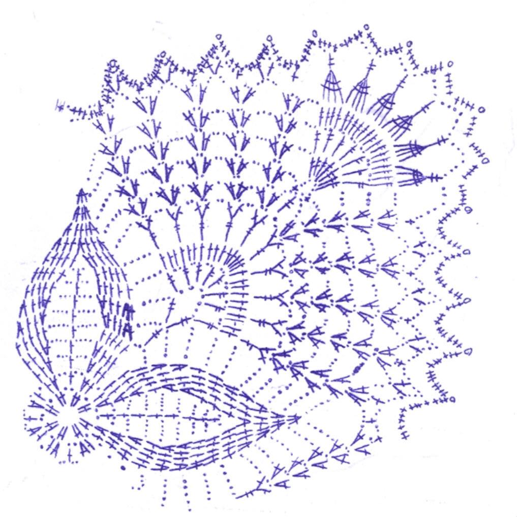 Схема квадратной салфетки
