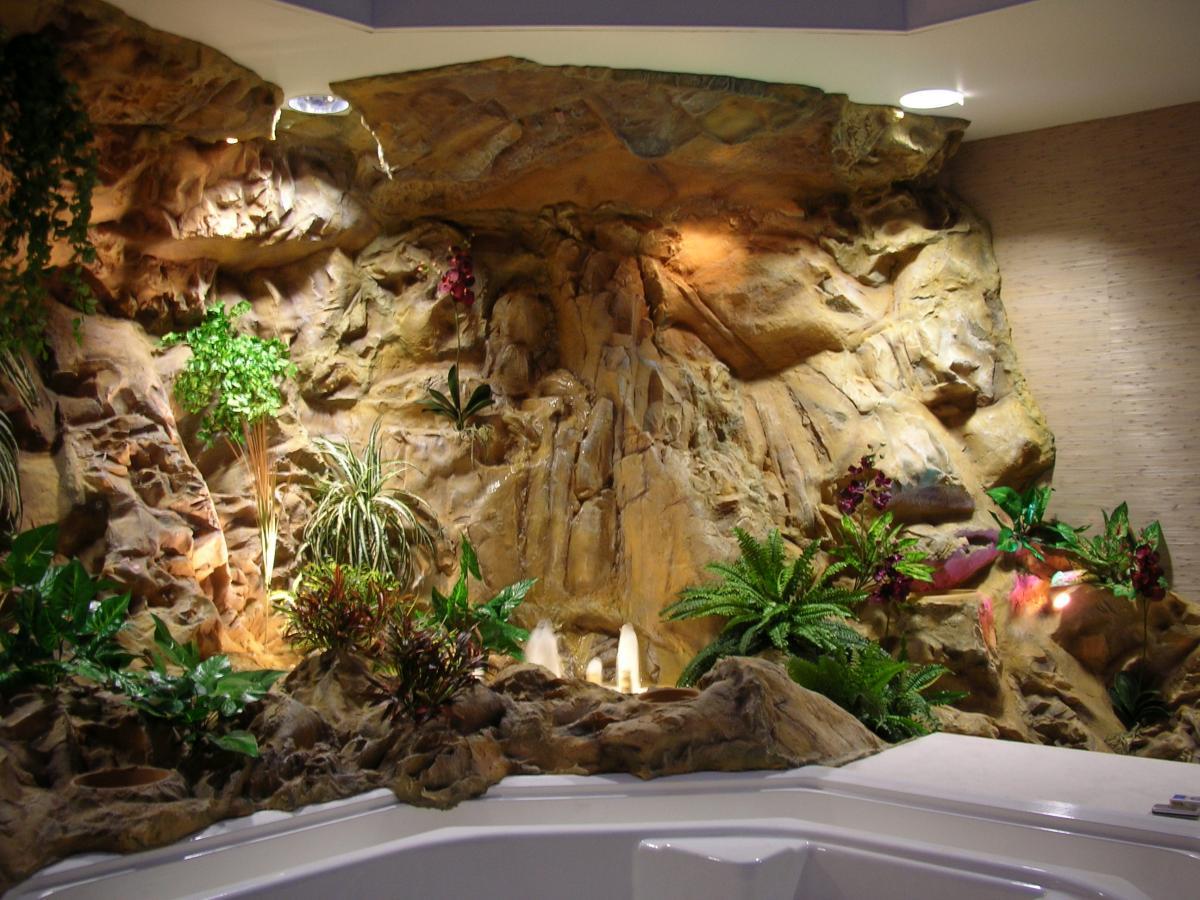 Декоративные фонтаны и водопады в помещении