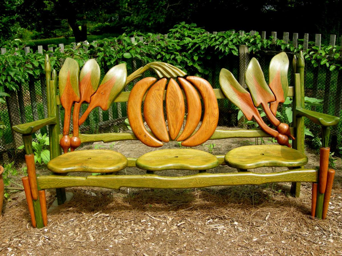 Садовая скамейка своими руками дизайнерская
