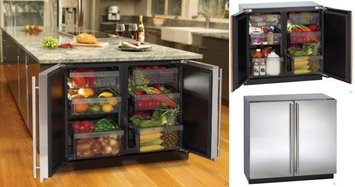 холодильник в разделочном столе0